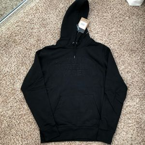 The north face black sweatshirt